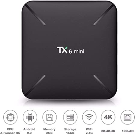 URAURORA Android 9.0 WiFi Smart TV Box/Streaming Media Player / 3D con 4K Ultra HD 2 GB De RAM 16 GB De ROM 2.4Ghz WiFi para Netflix Showbox Youtube Inicio Regalo: Amazon.es: Hogar