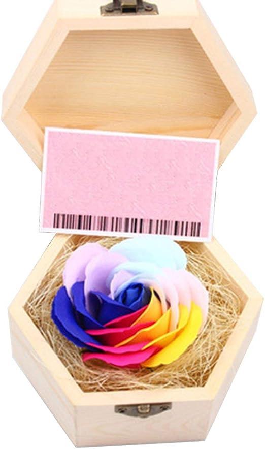 Générique - Caja de Madera para Regalo de San Valentín, diseño de Flores y Rosas: Amazon.es: Hogar