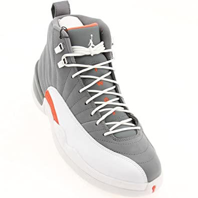 4bb2564881c2 Image Unavailable. Image not available for. Color  NIKE Air Jordan 12 Retro  XII Cool Grey White Team Orange AJ12 130690-012