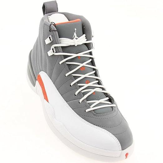Nike Air Jordan 12 Retro XII Cool Grey White Team Orange AJ12 130690-012 [