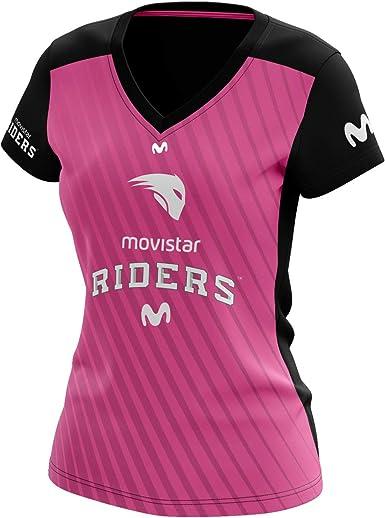 Movistar Riders Oficial 2019, Camiseta para Mujer: Amazon.es: Ropa y accesorios