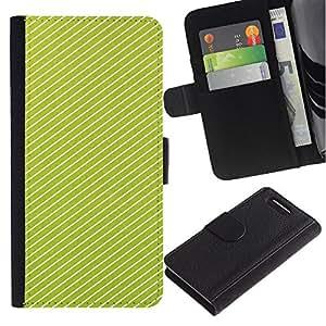WINCASE ( No Para Xperia Z1 ) Cuadro Funda Voltear Cuero Ranura Tarjetas TPU Carcasas Protectora Cover Case Para Sony Xperia Z1 Compact D5503 - Modelo blanco líneas vibrante verano