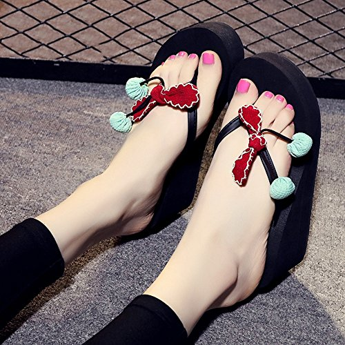 femmes taille 5 Pour femme chaussures Couleur CN35 gamme Chaussures de dos Été Nouveaux femmes pour flip glissante flops UK4 7cm à haut 4 EU36 HAIZHEN 4RHEqq
