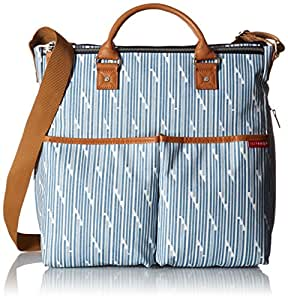 skip hop duo special edition diaper bag blueprint stripe blue white baby. Black Bedroom Furniture Sets. Home Design Ideas