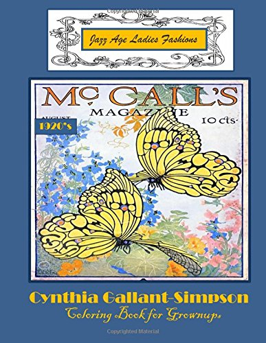 Read Online Jazz Age Ladies Fashions Coloring Book for Grownups ebook