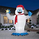 Christmas Inflatable Colossal 12' Bumble With Star By Gemmy Rudolph The Red Nosed Reindeer Character