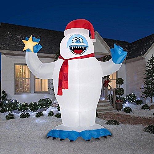 c54fb431e6c04 Christmas Inflatable Colossal 12  Bumble With Star By Gemmy Rudolph The Red  Nosed Reindeer Character