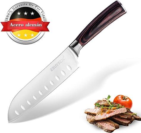 Ebuybest Cuchillos de Cocina Profesionales, Cuchillo Santoku 8