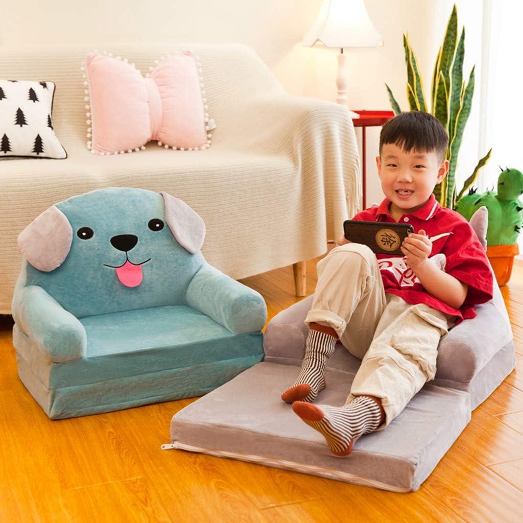 B Blesiya Sofabezug Kindersessel Kindersofa Sofahusse Sesselbezug Sitzbezug Sessel/überwurf Blau Krone