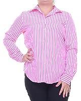 Lauren Ralph Lauren Women's Knit Stripe Long Sleeve Shirt