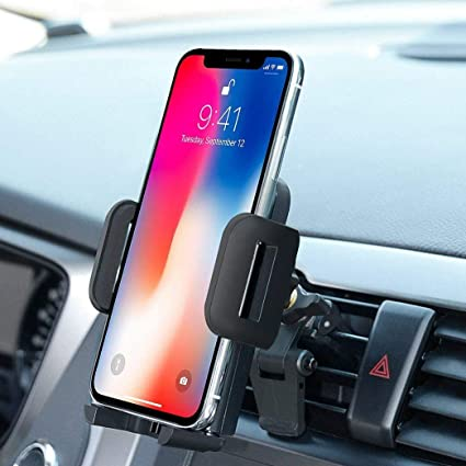 Holds on solidly to Phone and Vent during Bumping /& Turning Car Mount for Cell Phone Car Vent Phone Mount Mobile Holder for Car Air Vent Phone Holder Auto Clamping Car Mount Phone Holder for Car