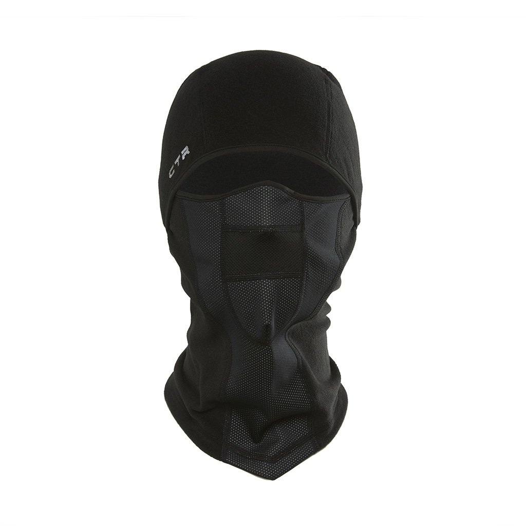 Chaos -CTR   Tempest Multi Tasker Pro Micro Fleece Balaclava with Windproof Face Mask, Black, Large/X-Large
