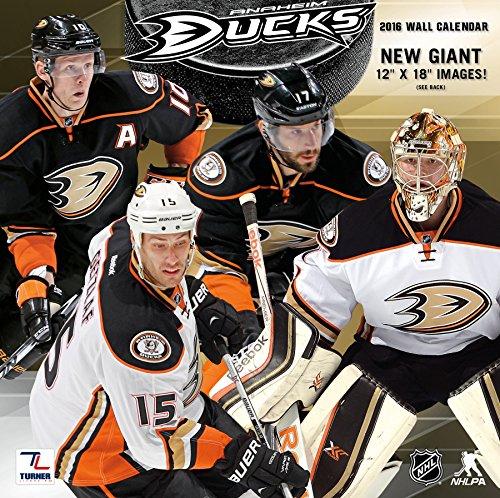 """Turner Anaheim Ducks 2016 Team Wall Calendar, September 2015 - December 2016, 12 x 12"""" (8011931)"""