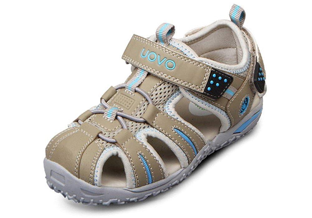 Toddler//Little Kid//Big Kid iDuoDuo Kids Outdoor Athletic Bungee Closed Toe Hook-and-Loop Sport Sandals