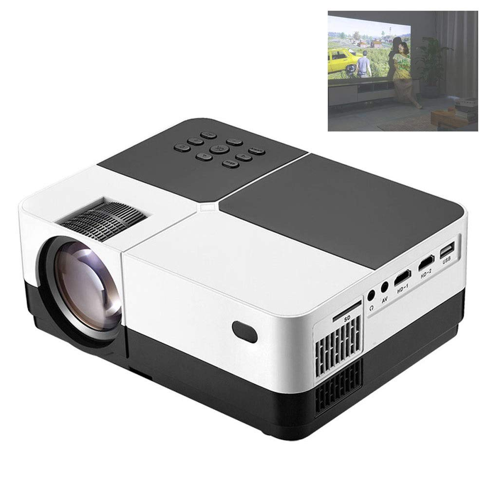 Mobile Phone Projector Home 1080P Home Theater Micro Portable HD Projector Teaching 350ANSI Lumens