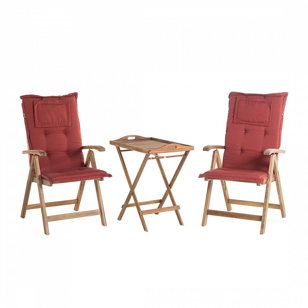 Gartenmöbel Balkonmöbel Holzmöbel Tisch Mit 2 Stühlen Und 2