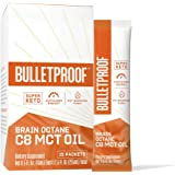 Brain Octane Premium C8 MCT Oil Single Serve Packets from Non-GMO Coconuts, Flavorless, 14g MCTs, Bulletproof Keto Supplement