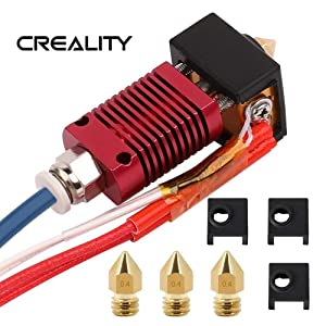 CHPOWER Ender 3 Assembled Hotend with Bowden PTFE Tubing with Silicone Cover×3 and 0.4mm Nozzle×3 for Ender 3 and Ender 3 pro