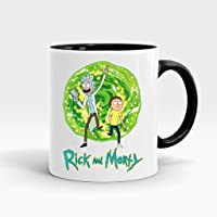 Rick and Morty 3 İçi ve Kulpu Siyah Renkli Kupa