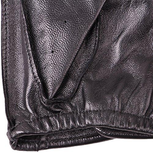 Sumolux gants en cuir doublure en cachemire homme