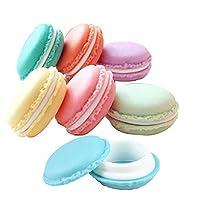 Naisicatar mini macaroon cosmetici gioielli Storage box, Travel orecchino custodia organizer contenitore in colori casuali, 6pz