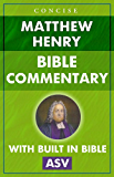 Matthew Henry's Concise Bible Commentary for Kindle (ASV) (cross linked with built in Bible) (1)