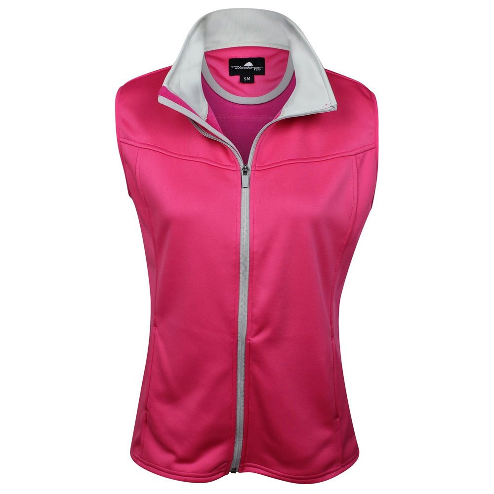 The Weather Apparel Co Poly Flex Golf Vest 2017 Womens Pink/Silver X-Small