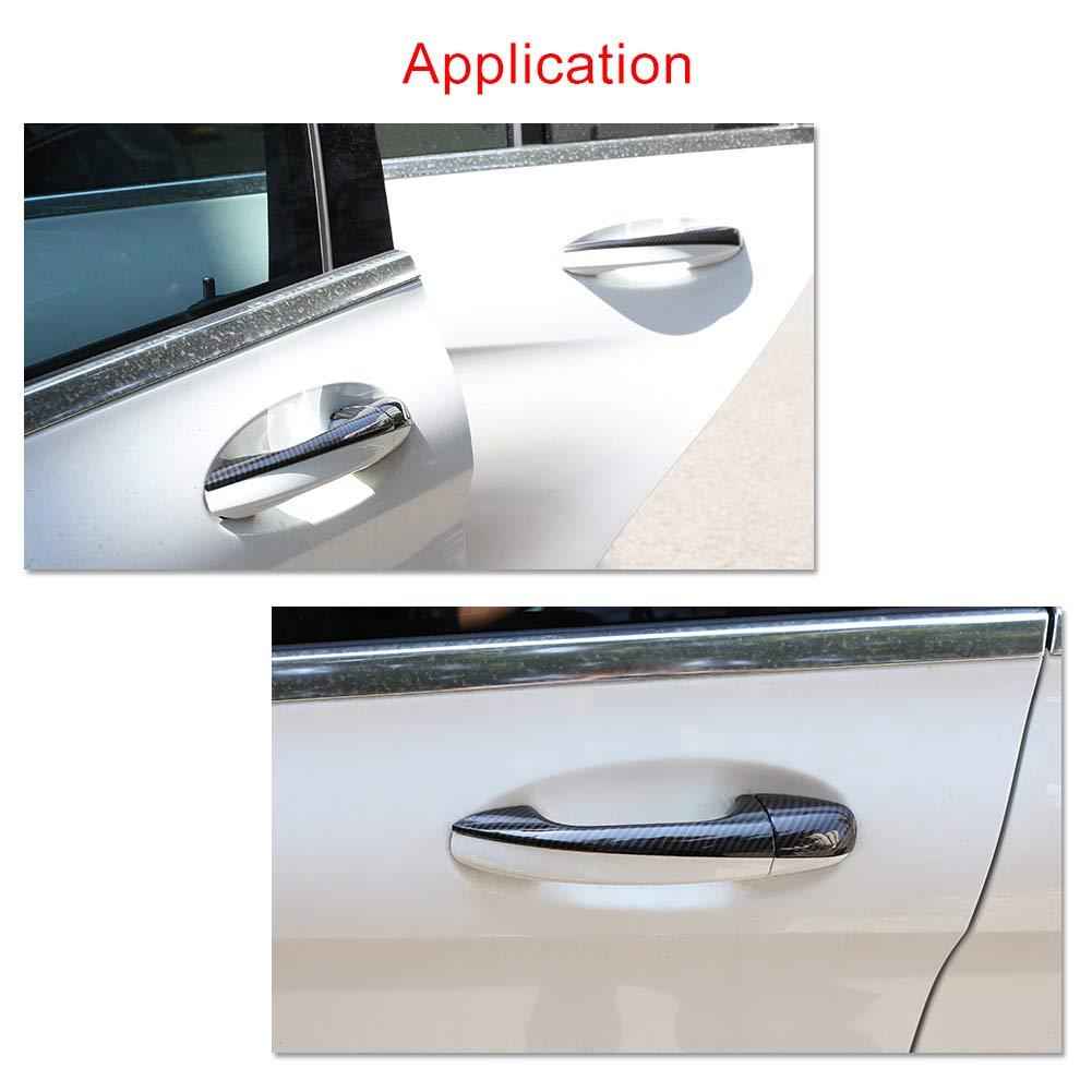 Fydun Car Side Door Handle Frame Cover Trim Carbon Fiber Style 4 Pcs for C-Class W205 GLC X253 2015-2018