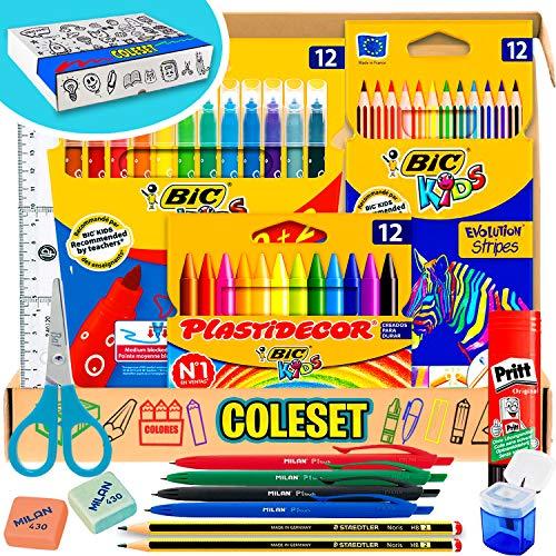 Comprar Coleset Pack Material Escolar Primaria Vuelta al Cole Kit Escolar Lote Materiales Escolares Tiendas Online Envíos Baratos o Gratis