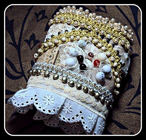 Handmade Fabric Cuff Bracelet - Lady ()
