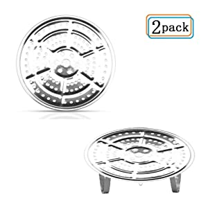 11-Inch Pressure Cooker Canner Rack(2-Pack )Detachable Legs Canning Rack for Stainless Steel Pressure Canner Rack Pot Steam Basket Rack Accessories