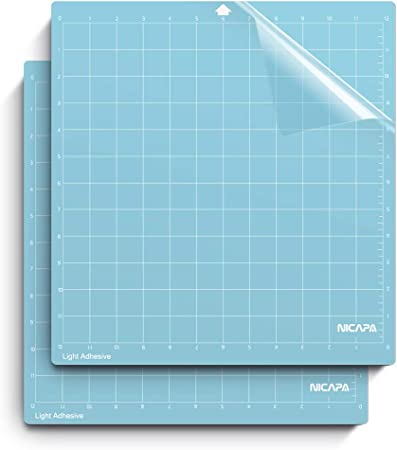 Scrapbooking Monicut Adhesive Mats for Quilting All Arts Sewing 12x12 Strong-Grip Craft Cutting Mat for Silhouette Cameo 321 3 Pack