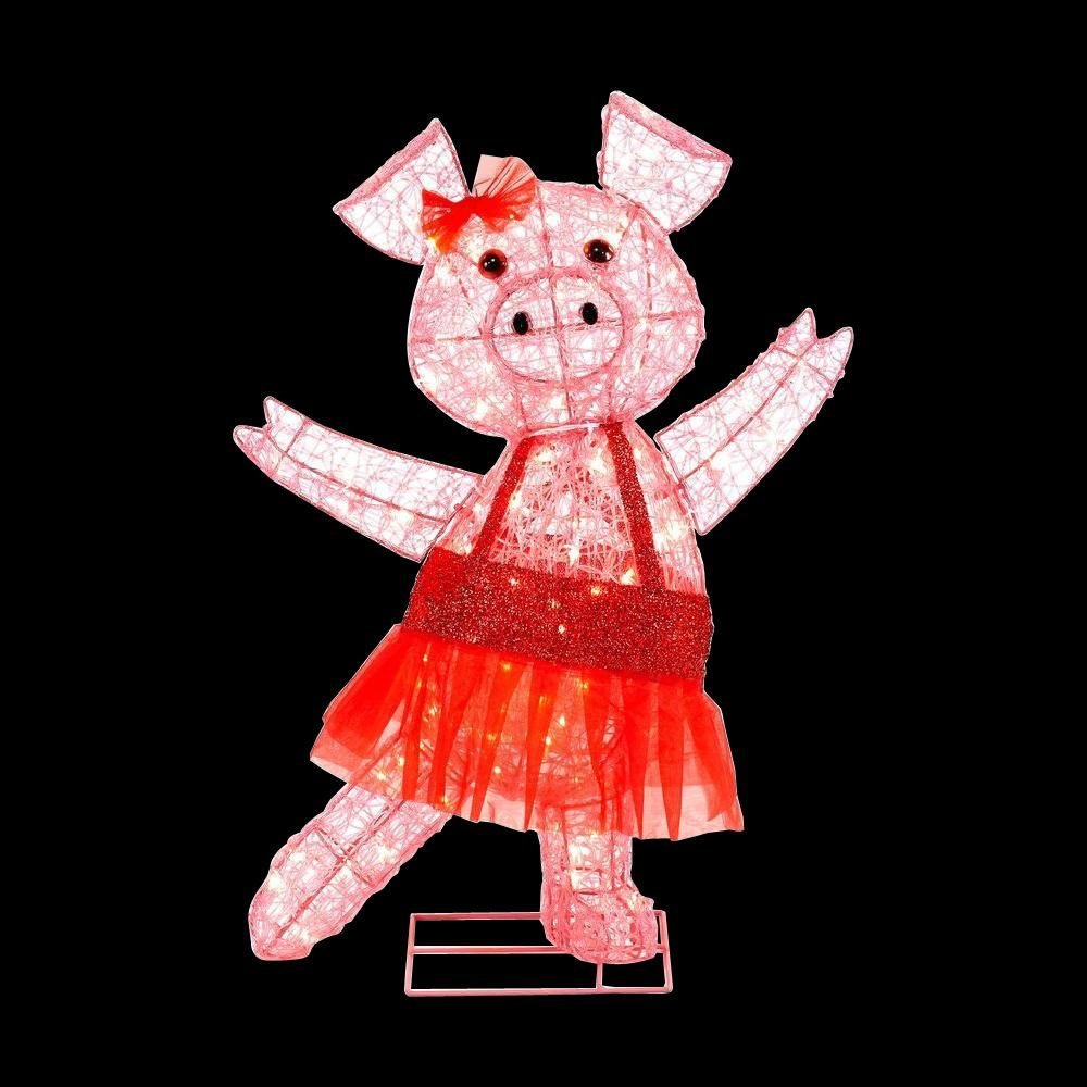 Lighted christmas pig outdoor decoration - Amazon Com Christmas 32 Lighted Pink Acrylic Pig Ballerina Red Festive Tutu Indoor Outdoor Decoration Patio Lawn Garden