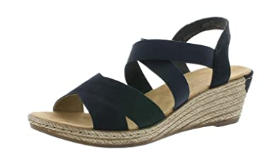 e8d163306211 Rieker 62412 Femme Sandales compensées,Chaussures d'été,Confortable,Plat:  Amazon.fr: Chaussures et Sacs
