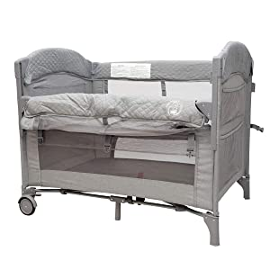 Baby Bedside Sleeper Bassinet Bed: 3-in-1 Portable Crib for Newborns, Side Sleeper for Babies, Toddler Play Pen