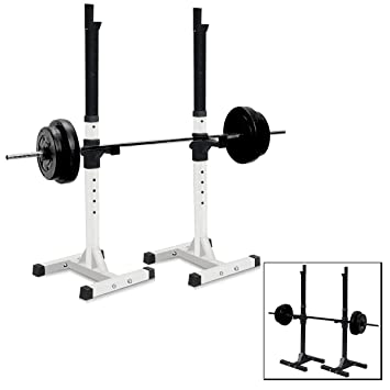 sportmad par de mancuernas Rack estándar ajustable banco de sentadillas pesas de acero sólido resistente prensa