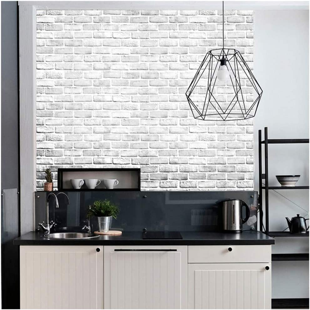 Dwind D1022 Brick Peel and Stick Wallpaper 17.7in x 118inch Self Adhesive Contact Paper Kitchen countertop Cabinet Furniture