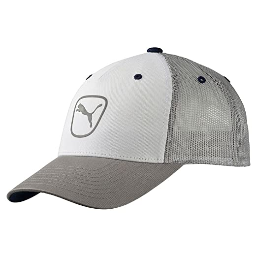 37bb7c4a762 Amazon.com   NEW Puma Cat Patch 2.0 Trucker Adjustable Drizzle White ...
