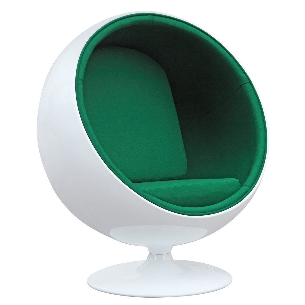 amazoncom designer modern eero aarnio ball chair with green interior with kitchen u0026 dining