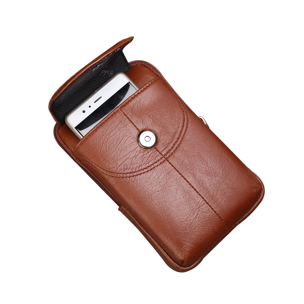 Genda 2Archer Leather Phone Pouch Small Belt Waist Bag for Men