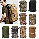 50L Tactical Military Trekking Backpack Rucksack Shoulder Bag For Camping Hiking