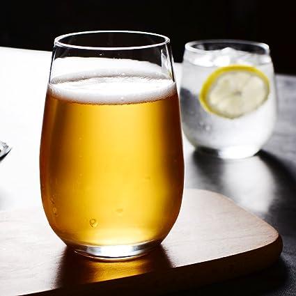 Tazas de vidrio mousse de helado tazas de leche taza de bebidas transparentes de vidrio zumo