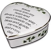 CBE Porcelain Irish Shamrock Jewelry Keepsake Box (First Communion Box)