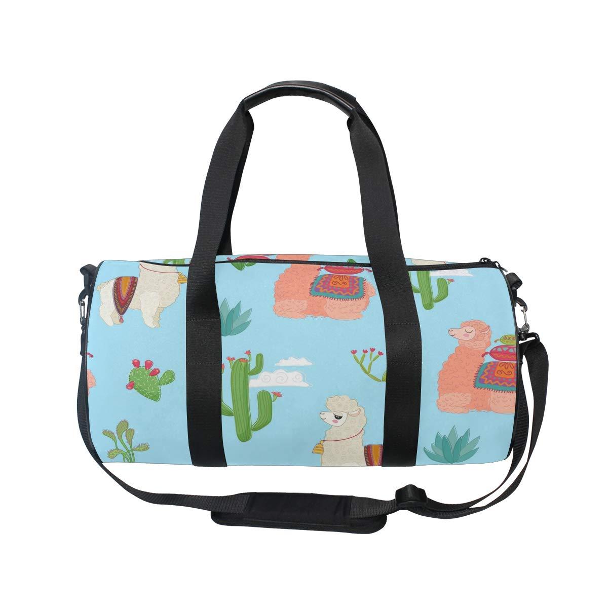 Llama Unisex's Duffel Bag Travel Tote Luggage Bag Gym Sports Luggage Bag by EVERUI (Image #2)