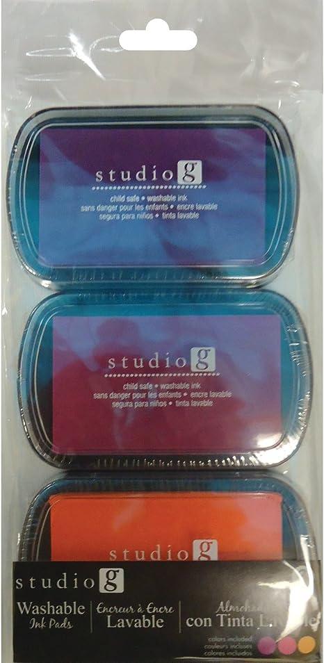 3-Pack Brights Hampton Art Washable Ink Pads