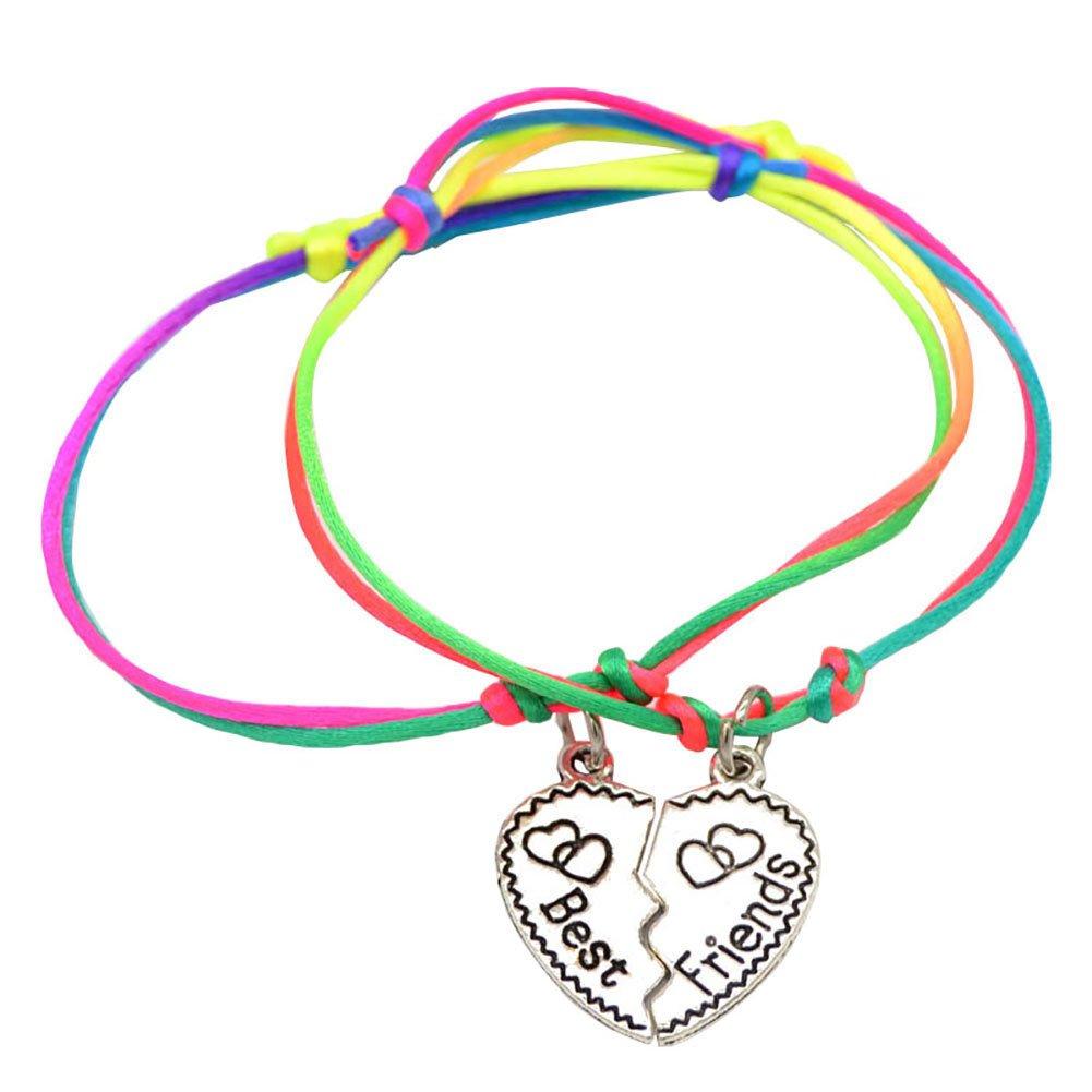 Catnew Fashion Women Girl Letter Carved Heart Best Friend Matching Bracelet -4