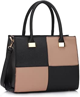cb5ad9f4cc Ladies Women s Fashion Quality Faux Leather Bags Handbags Chic Designer Bag  LS00153M
