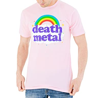 f92394fdb611 Amazon.com: Death Metal Rainbow Men's T-Shirt: Clothing