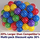 "30% Multi-Pack Discount - Pack of 100 pcs 2.5"" Balls in 5 Bright Colors - Crushproof Air-Filled Soft Plastic, Phthalate & BPA Free ( 22% larger by volume compared w/ Click N' Play Ball )"