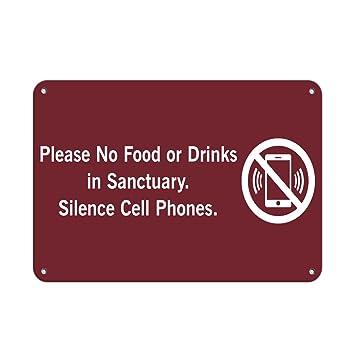 Amazon.com: Por favor, no hay alimentos o bebidas en ...